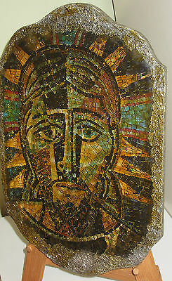 FREE shipping - Christian Art from the Holyland portrait depicting Jesus Christ