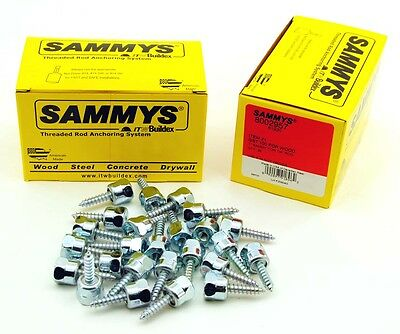 (25) Sammys 1/4-20 x 1 Threaded Rod Hanger for Wood 8002957