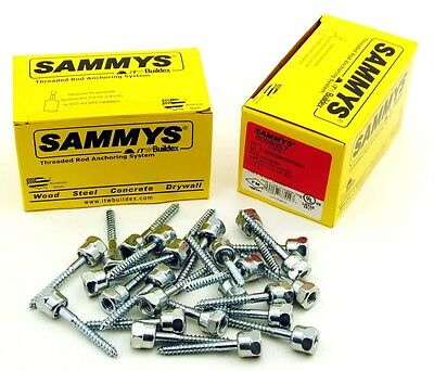 (25) Sammys 3/8-16 x 2 Threaded Rod Hanger for Wood 8008957
