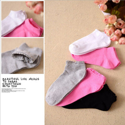 6 Pairs Girl Child Kid Cotton Ankle Soft Comfort Low Cut Socks No Show 10-13Y