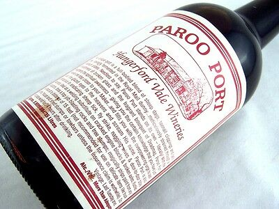 1985 circa HUNGERFORD VALE WINERIES Paroo Port Isle of Wine