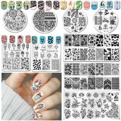 BORN PRETTY Nail Art Stamp Template Image Stamping Plate DIY Manicure Decor