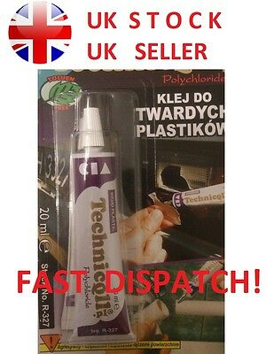 SUPER HARD PLASTIC GLUE * BEST PRICE* for ABS Acrylic GLASS PCV Pipes * STRONG *