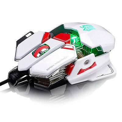 4000DPI 10D Buttons LED Optical Wired Mouse Gaming Mouse For Pro PC Gamer Hot