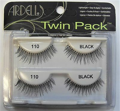 "Ardell Natural Human Hair Eyelash 110 Black TWIN PACK ""Contain 2 Pair* THE BEST"