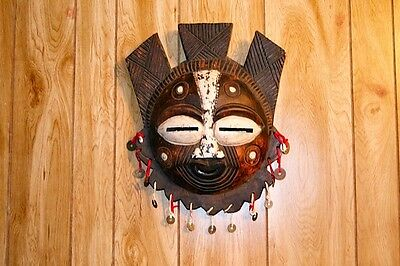 rare hand hewn Ghana Mask from 50,s