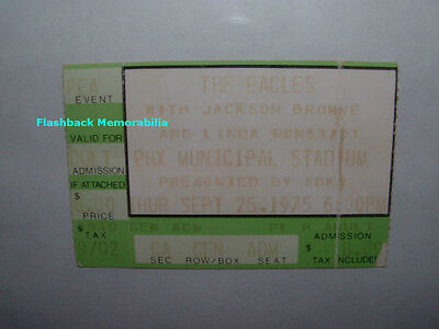 EAGLES 1975 Concert Ticket Stub PHOENIX Very Rare JACKSON BROWNE Linda Ronstadt