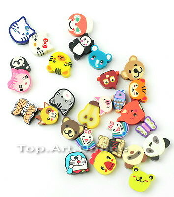 100 New Lovely Charming Multicolour Fimo Animal Loose Spacer Beads to0e
