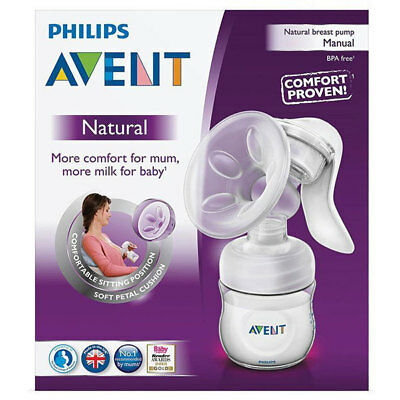 Philips Avent Natural Manual Breast Pump Kit Comfort Bpa Free Breastfeed Support