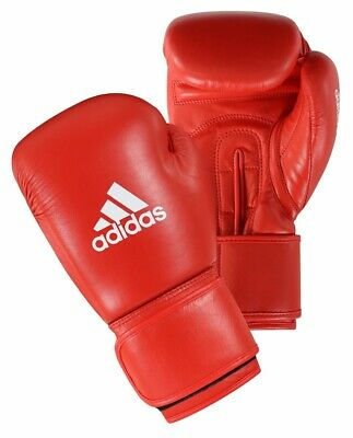 Adidas AIBA Licensed Boxing Gloves Red Olympic Fight Gloves 10oz 12oz Leather