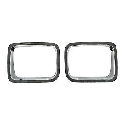 Jeep Wrangler YJ Headlight Bezel Chrome  1987-1995  12419.05 Rugged Ridge