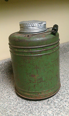 Antique/Vintage Stoneware/Crock Thermos Cooler ~ Green ~  Great Patina!