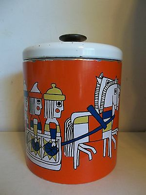RANSBURG VTG COOKIE TIN JAR METALWARE COLLECTIBLE MULTIPURPOSE CANDY CANISTER