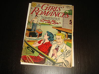 GIRLS' ROMANCES #10 Golden Age Young Love Stories  DC Comics 1951 VG-