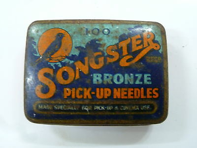 Vintage Songster Gramophone Needle Tin / Bronze Pick-Up Needles