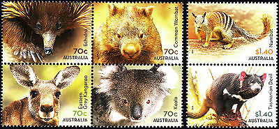 Australia 2015 Native Animals - Complete Set of Stamps (Gummed), MNH