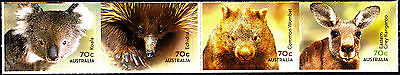 Australia 2015 Native Animals - Strip of 4 Stamps -B  Self Adh Ex Booklet, MNH