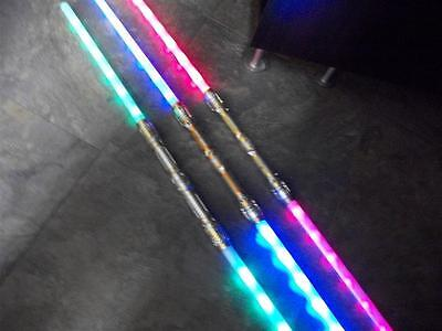 3 Galactic Wars Dual Lightsaber Led 6-FX Double 2-Sided Toy Star Sword GIFT KIDS