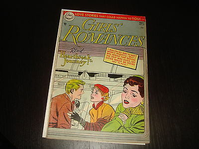GIRLS' ROMANCES #29  Golden Age Young Love Stories  DC Comics 1954 VG/FN