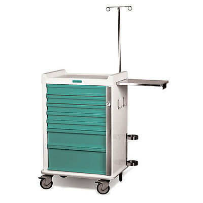 MR-Conditional Emergency Cart 7-Drawer Teal 1 ea