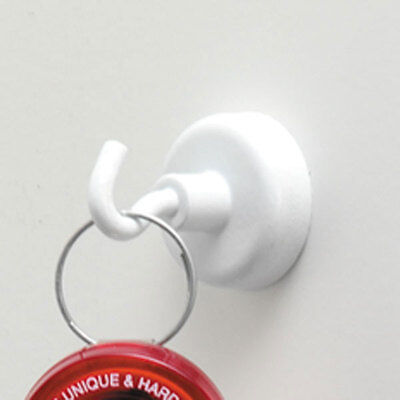 "1"" Diameter Magnetic Hooks White 12 pk"