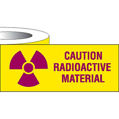 """Label Tape Caution Radioactive Material • 1""""W x 500""""L 1 roll"""