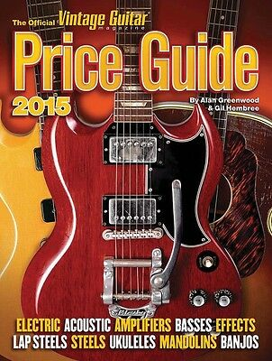 The Official Vintage Guitar Price Guide 2015 Book NEW 000138549
