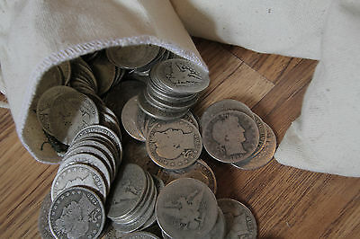 Survival Money 1892-1915 Barber Half Dollar 90% Silver Circulated Coin Lot of 50