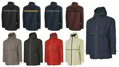 Men's Wind & Waterproof Hooded, Rain Coat, Lightweight, Zip Up, Pockets, Xs-5Xl