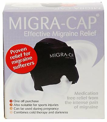 Migra-Cap Original Migraine Relief Hat - Black - One Size