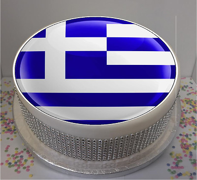 """Novelty Scotland Flag  7.5/"""" Edible Icing Cake Topper birthday personalised"""