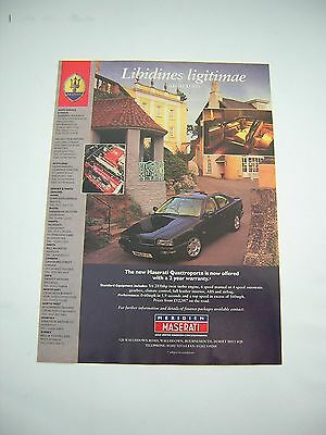 Maserati Quattroporte Advert from 1996 - Original