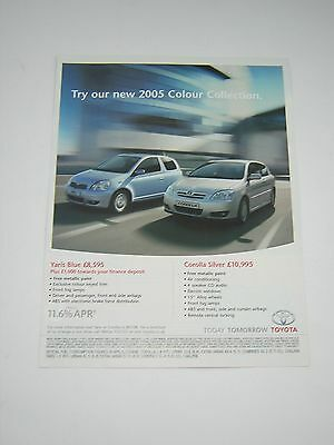 Toyota Yaris Blue and Corolla Silver Advert from 2005 - Original