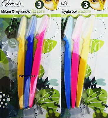 6x Eye Brow Trimmer Hair Removal Bikini Blade Shaper Facial Ladies Womens Safety