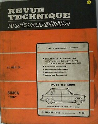 revue technique automobile RTA SIMCA 1100