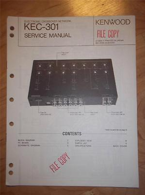 kenwood service manual kec 301 electronic crossover network car rh picclick com