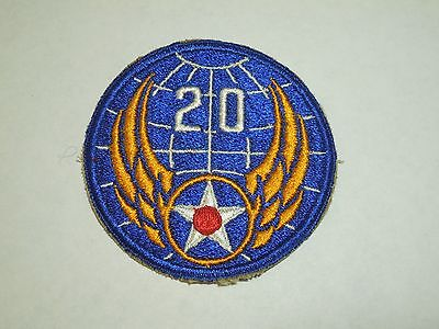 US Army 20th Air Force Military Uniform Embroidered Sew On Shoulder Patch