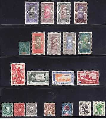 Diego Suarez & Dahomey # Various Mint Hinged 20 Different 1 W/ Pp, Cv$20.00 Gt18