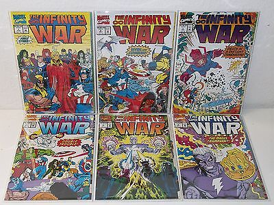 THE INFINITY WAR #1-6 - Complete Series - THANOS Starlin -SILVER SURFER Avengers