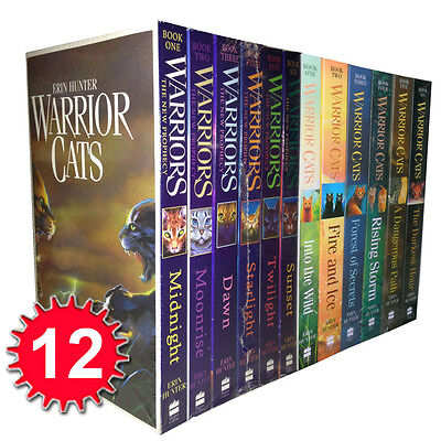 Warrior Cats Collection Erin Hunter 12 Books Set The New Prophecy (Series 1 & 2)