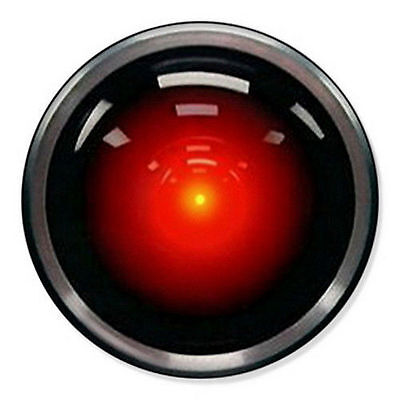 HAL 9000 - 2001 A SPACE ODYSSEY -  Pin Badge/Fridge Magnet. Varied Sizes
