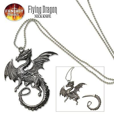 FANTASY MASTER DRAGON PENDANT NECKLACE NECK KNIFE FM-426 With Chain