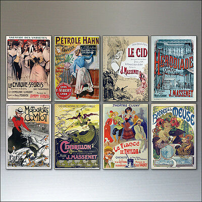 8 Vintage French Advertising Poster Fridge Magnets bohemian
