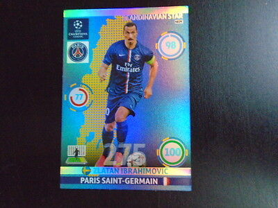 Panini Adrenalyn xl Champions League 2014/15 Ibrahimovic scandinavian star