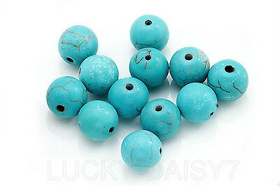 4,6,8,10mm Loose Turquoise Round Charm Spacer beads Jewelry Findings