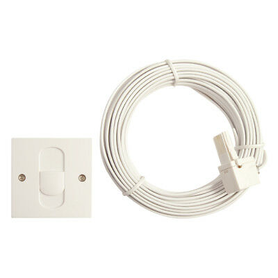 TELEPHONE OUTLET EXTENSION CABLE LEAD SOCKET KIT 15m