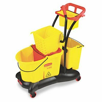 Rubbermaid 7780 WaveBrake 35-Quart Mopping Trolley Side Press (RCP778000YW)