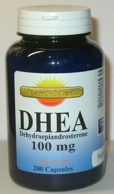 DHEA 100mg 200 Capsules Pharmaceutical Grade, Boosts Metabolism, Healthy Aging
