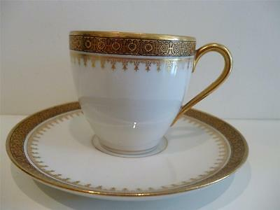 "Antique ""Limoges France"" Coffee Cup & Saucer"