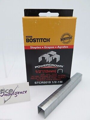 "1 x Bostitch Tacker Staples STCR5019 12mm 1/2 "" 1000Box STCR501912MM4M^"